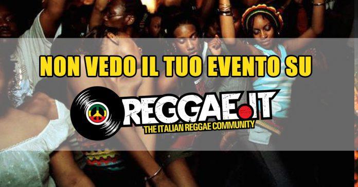 Come inserire un evento su calendario di Reggae.it