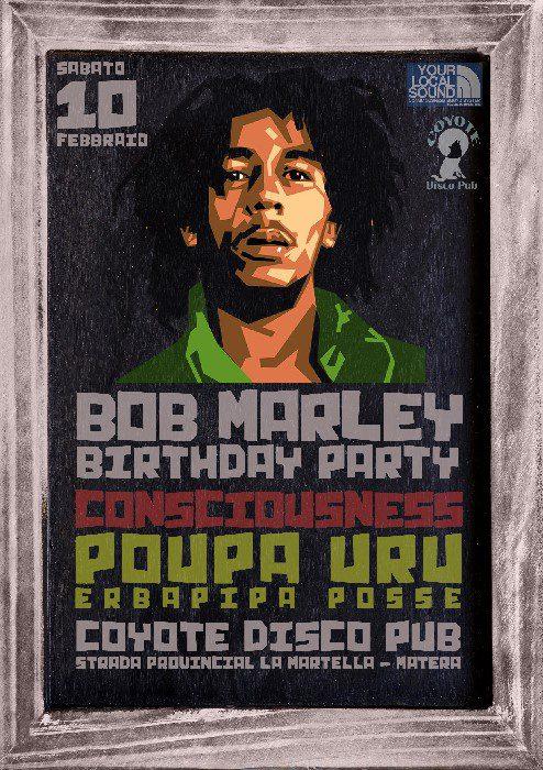 Bob Marley B-DAY PARTY with POUPA URU (Erbapipa Posse)