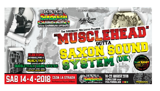 Rototom Launch party -Musclehead (Saxon)