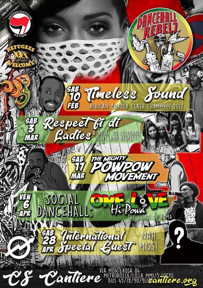 Dancehall Rebelz w/ One Love Hi Powa @Cantiere