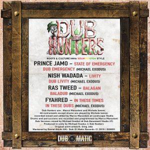 DUB HUNTERS Ep (Dub-O-Matic Records) new digital release 2021 Album, Dub Release, New Release