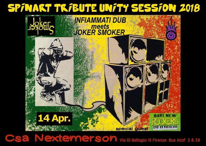 Spinart Tribute Unity Session 2018: Joker Smoker, Infiammati Dub & Bari New Rockers