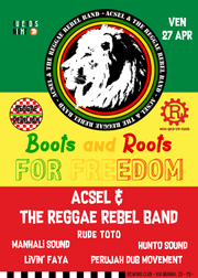 acsel and the reggae rebel band + boots and roots al rework