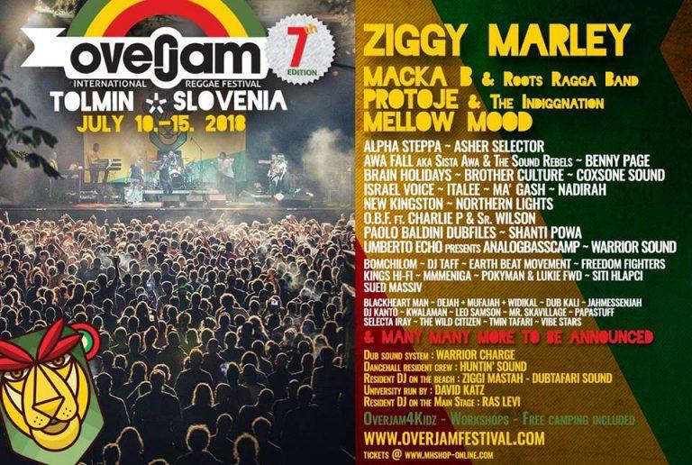 Overjam International Reggae Festival 2018