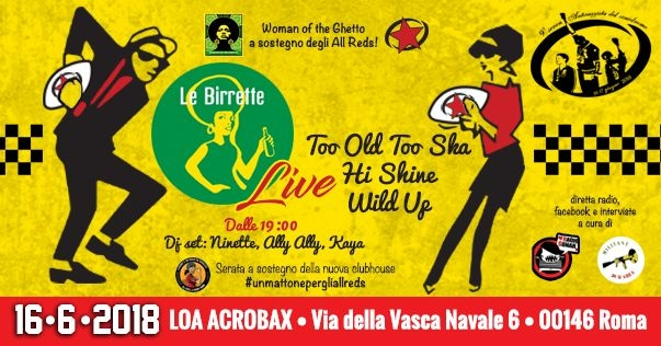 Le Birrette + Woman of the Ghetto per gli ALL REDS
