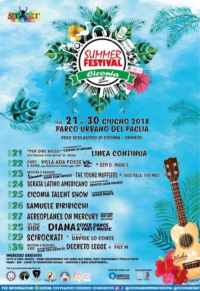 Villa ada Live al  Ciconia Summer Festival Free Entry