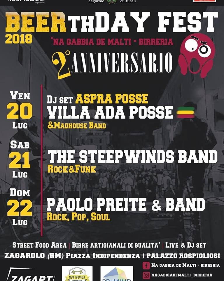 VILLA ADA POSSE LIVE BEERthDAY FEST 2018