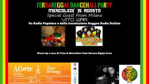 FERRAREGGAE DANCEHALL PARTY – SPECIAL GUEST VITO WAR