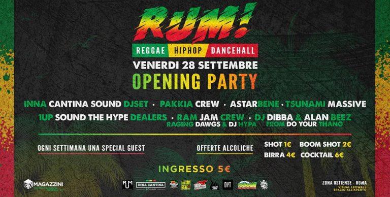 Rum • Tutti i Venerdì • Reggae HipHop Dancehall •
