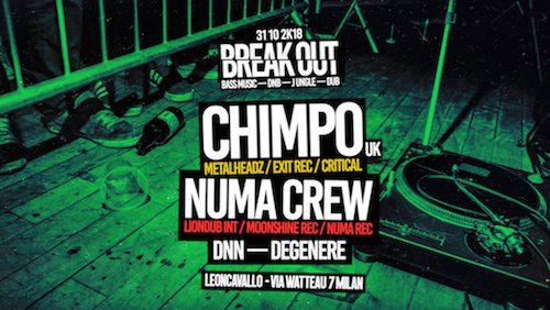 BREAK OUT! Halloween night w/ Chimpo (UK) + Numa Crew