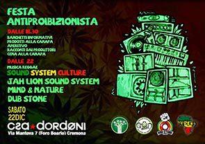 Festa Antiproibizionista + Serata Sound System