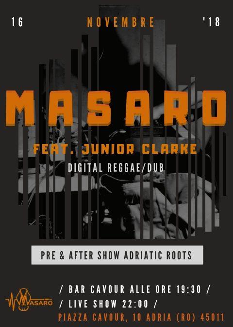 Masaro live feat. Junior Clarke