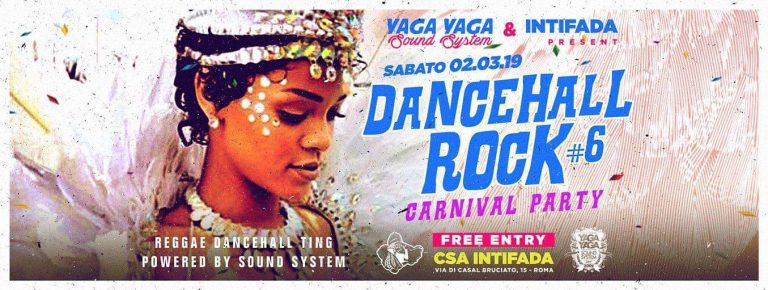 Dancehall Rock #6//free ENTRY a Intifada//Carnival Party Edition