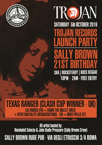 Trojan Records Official Launch Party – Sally Brown 21st Birthday