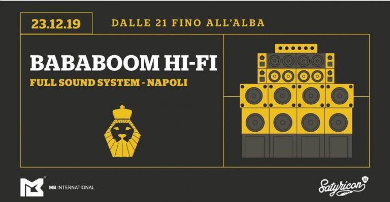 Sound System Culture / BabaBoom HI-FI / @Satyricon2.0 MB International