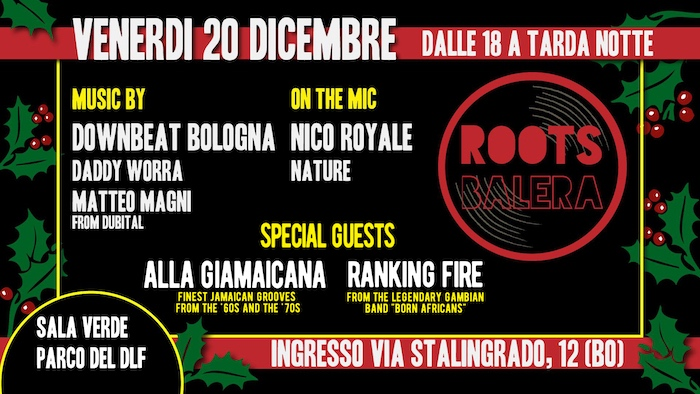 Roots Balera – Christmas Edition – Sala Verde parco DLF