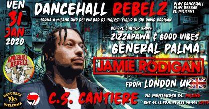 Jamie Rodigan w/ DancehallRebelzCrew @CantiereMilano