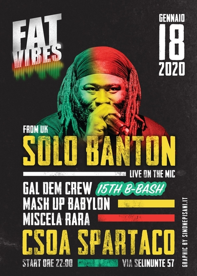 Fat Vibes ► Dancehall w/ Solo Banton (UK) ★ Live on the Mic!