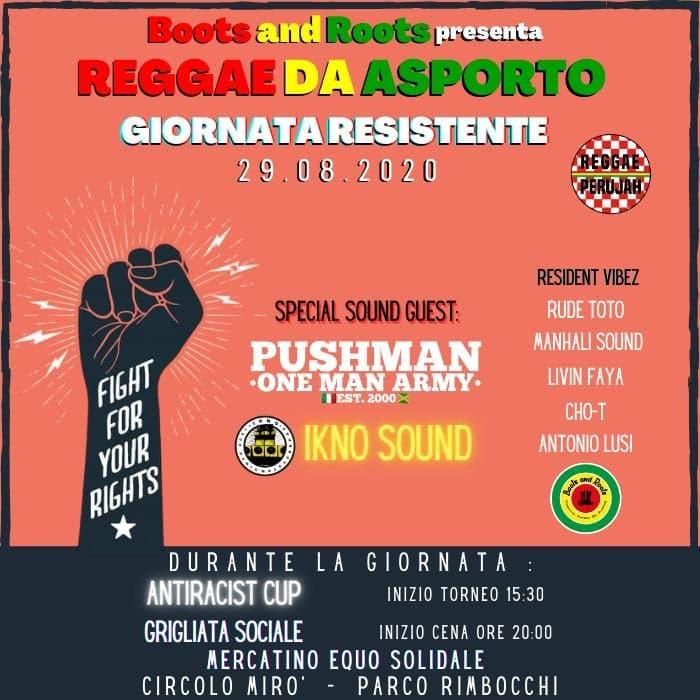 REGGAE D'ASPORTO -GIORNATA RESISTENTE ANTIRAZZISTA