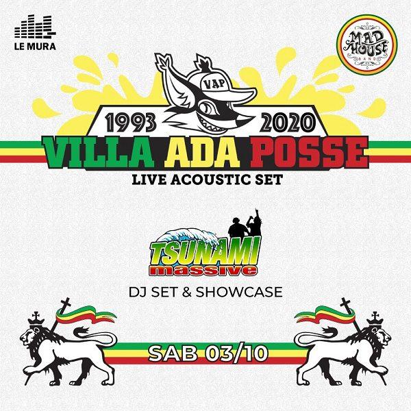 Villa Ada Posse ACOUSTIC con Madhouse Band & Tsunami Massive (Djset & Showcase)