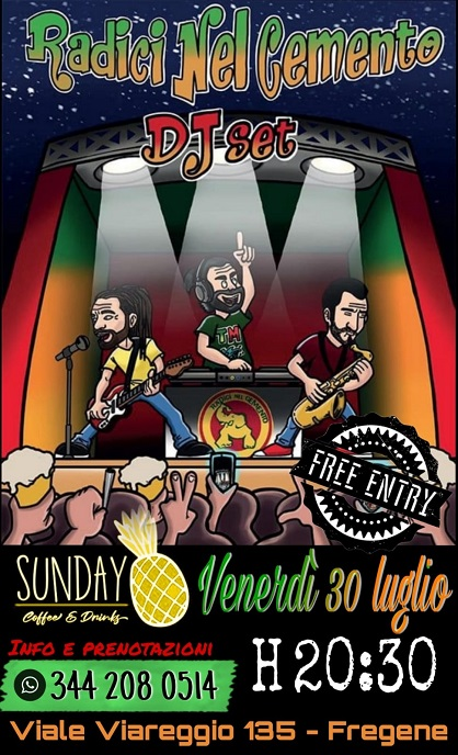 Reggae night • Radici nel cemento Djset• free entry