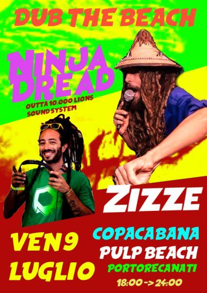 DUB THE BEACH ! NINJA DREAD & ZIZZE in session @Copacabana beach