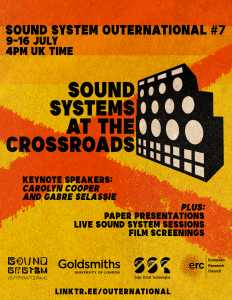 SSO#7: SOUND SYSTEMS AT THE CROSSROADS 2021
