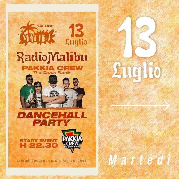 Dancehall Party with Pakkia Crew @ Malibù Beach Ladispoli